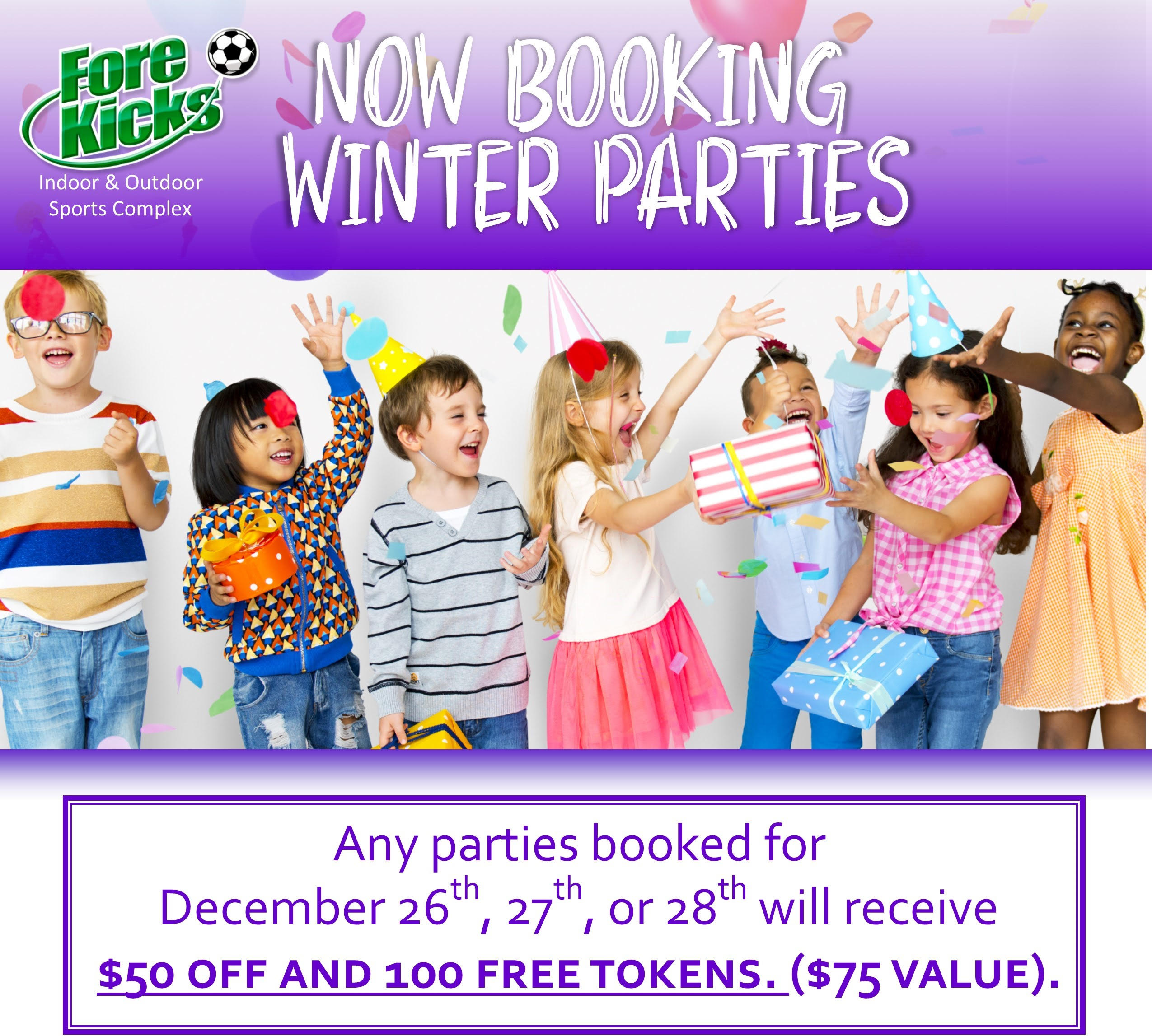 Birthday & Party Packages - Come Celebrate with us at Fore ...