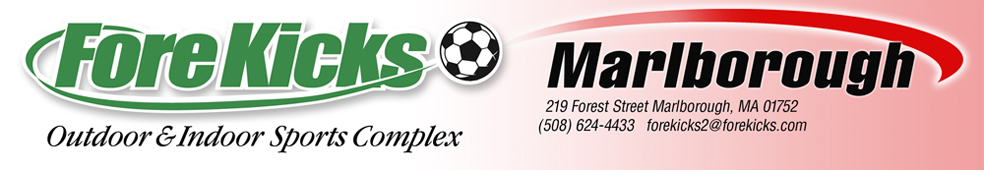 ForeKicks, Marlboro MA featuring Indoor and Outdoor Sports Including Soccer, Futsal, Lacrosse, FieldHockey, Baseball, Basketball. Volleyball, Laser Tag and Golf