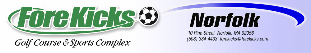 ForeKicks, Norfolk MA featuring Golf & Indoor Sports Including Soccer, Futsal, Lacrosse, Field Hockey, Basketball. Volleyball, Laser Tag and Golf