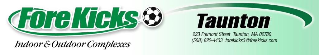 ForeKicks, Taunton MA featuring Indoor and Outdoor Sports Including Soccer, Futsal, Lacrosse, FieldHockey, Baseball, Basketball. Volleyball, Laser Tag and Golf